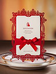abordables -diseño del nudo chino invitación de la boda -set de 20/50