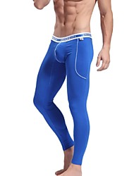 Men's  Bamboo Fiber   Comfy Keep Low Waist Tight Fashion Leggings