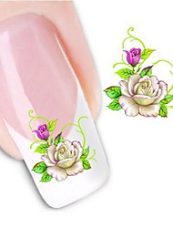 Water Transfer  Printing  Nail Stickers XF1050
