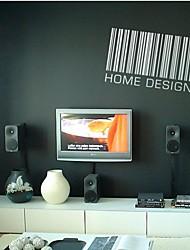 zooyoo® niedliche bunte PVC abnehmbare Barcode-Stil Wandaufkleber heißer Verkauf Wandtattoos für Wohnkultur