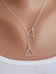 cheap -Women's Triangle Shape Basic Fashion Simple Style Pendant Necklace Alloy Pendant Necklace Party Birthday Congratulations Gift Daily Casual