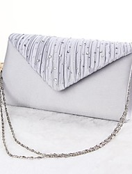 Women Bags All Seasons Silk Evening Bag for Event/Party Gold Black Silver Beige