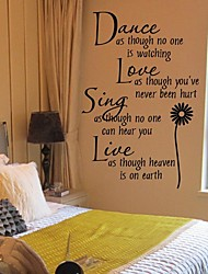 cheap -Words & Quotes Wall Stickers Plane Wall Stickers Decorative Wall Stickers Fridge Stickers, Vinyl Home Decoration Wall Decal Wall