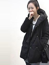 Недорогие -Мода материнства сократился двойные кнопки строк толстый теплый длинное пальто