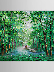 cheap -Hand-Painted Landscape Horizontal Canvas Oil Painting Home Decoration One Panel