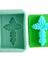 cross fondant kage chokolade harpiks slik silikone forme, l7.5cm * w6cm * h4cm
