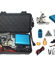 abordables -kit de tatuaje con el acero de la máquina de tatuaje de acero y azul de mini fuente de alimentación