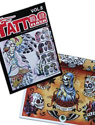 abordables -crâne conçoit livre de modèle de tatouage