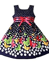 povoljno -Djevojka je Pamuk Proljeće Ljeto Jesen Bez rukávů Haljina zaslon u boji