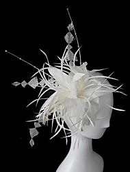 cheap -Crystal Feather Fabric Tiaras Fascinators 1 Wedding Special Occasion Party / Evening Headpiece
