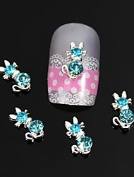 10pcs Blue Bow With Long Tail Nail Art Decoration