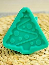 noël outils arbre fondant gâteau au chocolat silicone moule à cake de décoration, l7.7 * w7.7 * h1cm