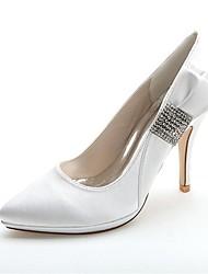 お買い得  -女性用 靴 サテン 春 / 夏 スティレットヒール シルバー / ブルー / パープル / 結婚式 / パーティー