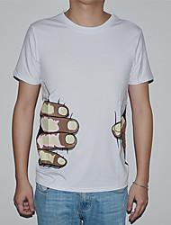 preiswerte -lesen Männer Rundhals koreanische Art Kupplungen Druck Mode T-Shirt o