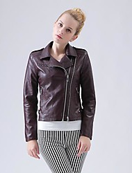cheap -Women's Chic & Modern Jacket-Solid Colored Patchwork,Vintage Style