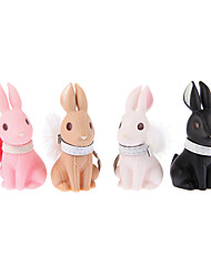 Key Chain Rabbit Cartoon Key Chain Black / White / Pink / Khaki ABS