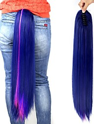 Twilight Sparkle Long Multi-color Straight Claw Ponytail