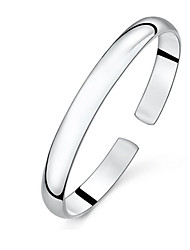 cheap -Cuff Bracelets Basic Fashion Handwork Elegant Sterling Silver High Quality for Daily Gift Casual Sports