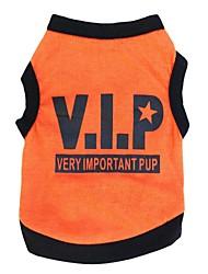 preiswerte -Katze Hund T-shirt Hundekleidung Atmungsaktiv Buchstabe & Nummer Schwarz Schwarz/Orange Schwarz/Gelb Kostüm Für Haustiere