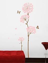 decalcomanie della parete adesivi murali, albero di fiori soggiorno adesivi murali decorazione della casa manifesto pvc
