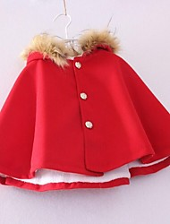 economico -Impermeabile Girl Tinta unita Tweed Autunno Blu / Rosso