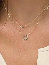 Doré Pendentif de collier Alliage / Imitation de perle Quotidien / Décontracté Bijoux