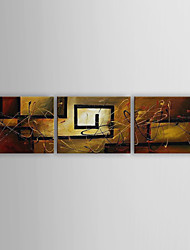 cheap -Oil Painting Hand Painted - Still Life Canvas Three Panels