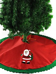 cheap -Christmas Tree Skirt Decoration Santa Claus Diameter 90CM Fresh Style