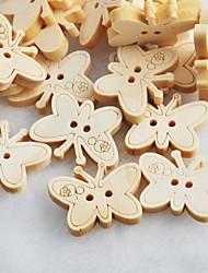Butterfly Scrapbook Scraft Sewing DIY Wooden Buttons(10 PCS)