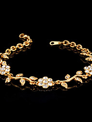 cheap -U7®Cute Women's Trendy Fashion Jewelry 18K Real Gold Platinum Plated Bracelet Bangle Rhinestone Crystal for Women