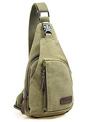 cheap -Men Bags Canvas Sling Shoulder Bag for Casual All Seasons Black Gray Brown Army Green Khaki