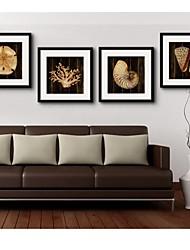 baratos -Animal / Fantasia Quadros Emoldurados Wall Art,PVC Preto Cartolina de Passepartout Incluída com frame Wall Art