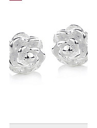 cheap -Women's Silver Stud Earrings With Quincunx