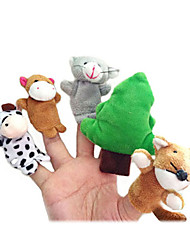 cheap -Toys Finger Puppets Puppets Cartoon Textile Plush Cute Lovely Novelty Girls' Boys' Gift
