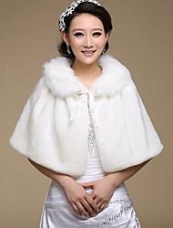 Coprispalle in pelliccia / Wraps Wedding Mantelline Senza maniche Pelliccia ecologica Bianco Matrimonio / Da sera