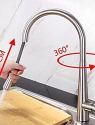 Недорогие -кухонный смеситель - Одно отверстие Матовый Настольная установка Современный Kitchen Taps / Латунь / Одной ручкой одно отверстие