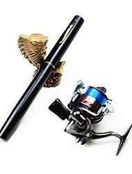 Mini Rod / Pen Rod / Fishing Rod + Reel / Fishing Rod Pen Rod Carbon 120 M Sea Fishing / Ice Fishing / Freshwater Fishing / Lure Fishing