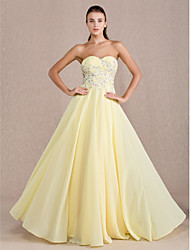 Sheath / Column Sweetheart Floor Length Chiffon Prom Dress with Beading by TS Couture®