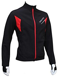 Realtoo Cycling Jacket Men's Women's Unisex Bike Jacket Fleece Jackets Tops Waterproof Thermal / Warm Windproof Fleece Lining Rain-Proof