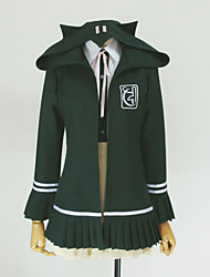 Inspired by Dangan Ronpa Chiaki Nanami Video Game Cosplay Costumes Cosplay Hoodies Solid Green Long Sleeve Coat / Shirt / Skirt / Cravat