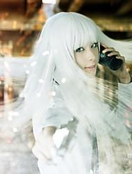 Cosplay Parykker Jormungand Koko Hekmatyar Hvid Lang Anime Cosplay Parykker 80 CM Varmeresistent Fiber Kvindelig