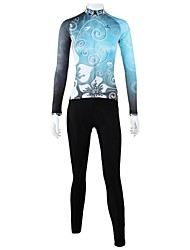 ILPALADINO Cycling Jersey with Tights Women's Long Sleeves Bike Clothing Suits Quick Dry Windproof Breathable Back Pocket 100% Polyester