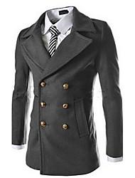 economico -fazo medio lungo moda doppio petto peacoat (nero, verde, blu navy, grigio)