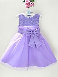 お買い得  -女の子の ソリッド ドレス オールシーズン ノースリーブ ベージュ パープル フクシャ レッド フクシア