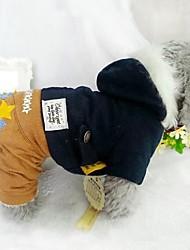 Cani Felpe con cappuccio Tuta Rosso Blu Abbigliamento per cani Inverno Primavera/Autunno Stelle Casual