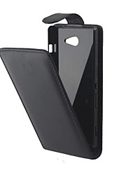 cheap -Case For Sony Xperia Z3 Compact / Sony Xperia M2 / Other Sony Case Flip Full Body Cases Solid Colored Hard PU Leather for Sony Xperia Z3 Compact / Sony Xperia M2 / other