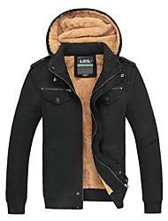 c&k jaqueta masculina (cáqui Azeitona Preta)