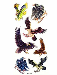 Waterproof Eagle Temporary Tattoo Sticker Tattoos Sample Mold for Body Art(18.5cm*8.5cm)