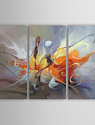 cheap -Hand-Painted Abstract Three Panels Canvas Oil Painting For Home Decoration