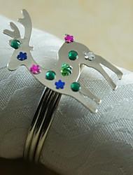 economico -natale renna portatovagliolo molti colori, acrilico, 4,5 centimetri, set di 12